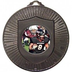 Silver American Football Medal 60mm