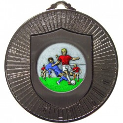 Silver Male Football Medal 60mm