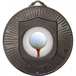 Silver Golf Ball and Tee Medal 60mm