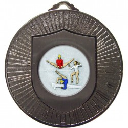 Silver Female Gymnastics Medal 60mm