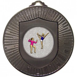 Silver Gymnastics Floor Medal 60mm