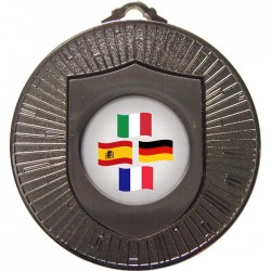 Silver Languages Medal 60mm