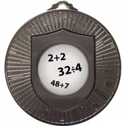 Silver Maths Medal 60mm