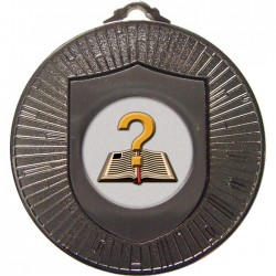 Silver Quiz Medal 60mm