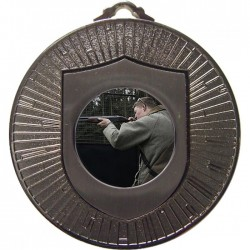 Silver Clay Pigeon Shooting Medal 60mm