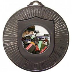 Silver Rifle Shooting Medal 60mm