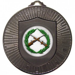 Silver Small Bore Rifle Shooting Medal 60mm