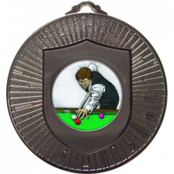 Silver Snooker Medal 60mm