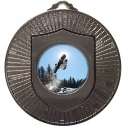 Silver Snowboarding Medal 60mm