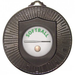 Silver Softball Medal 60mm