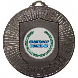 Silver Sports Day Runner Up Medal 60mm