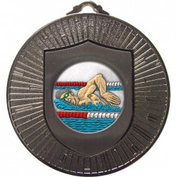 Silver Swimming Medal 60mm
