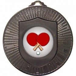 Silver Table Tennis Medal 60mm