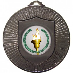 Silver Victory Torch Medal 60mm