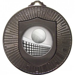 Silver Volleyball Medal 60mm