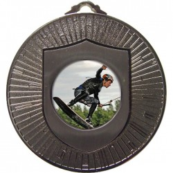 Silver Wake Boarding Medal 60mm