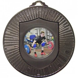 Silver Weightlifting Medal 60mm