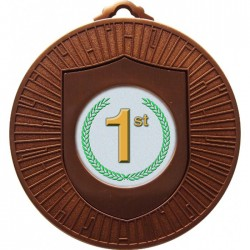 Bronze 1st Place Medal 60mm