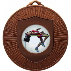 Bronze High Jump Medal 60mm