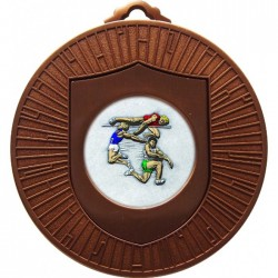 Bronze Jumping Athlete Medal 60mm