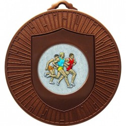 Bronze Male Athlete Medal 60mm