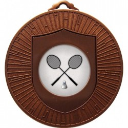 Bronze Badminton Medal 60mm