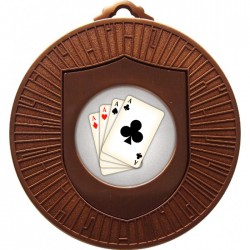 Bronze Cards Medal 60mm
