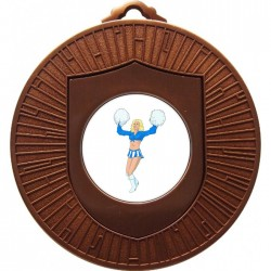 Bronze Cheerleader Medal 60mm