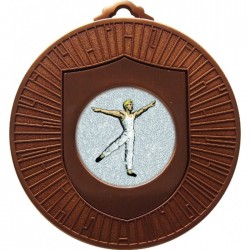 Bronze Male Dance Medal 60mm
