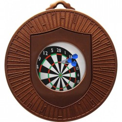 Bronze Darts Medal 60mm
