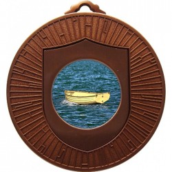 Bronze Wooden Dinghy Medal 60mm