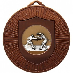 Bronze Fencing Medal 60mm