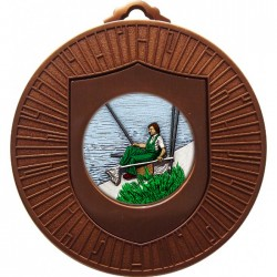 Bronze Fishing Medal 60mm
