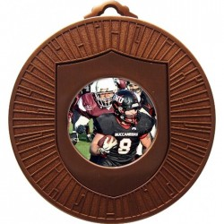 Bronze American Football Medal 60mm