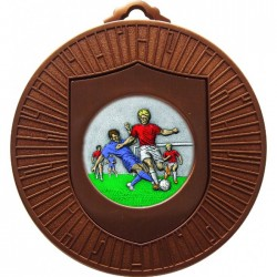 Bronze Male Football Medal 60mm