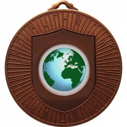 Bronze Globe Medal 60mm