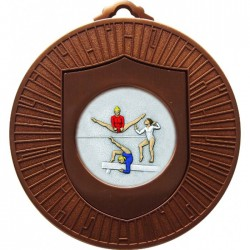 Bronze Female Gymnastics Medal 60mm