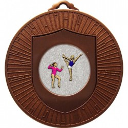 Bronze Gymnastics Floor Medal 60mm