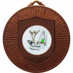 Bronze Male Gymnastics Medal 60mm