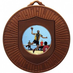 Bronze Handball Medal 60mm