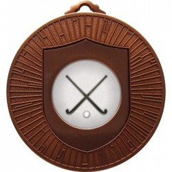 Bronze Hockey Medal 60mm
