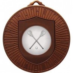 Bronze Lacrosse Medal 60mm