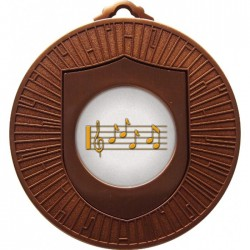 Bronze Music Medal 60mm