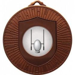 Bronze Rugby Medal 60mm