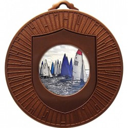 Bronze Sailing Medal 60mm