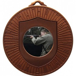 Bronze Clay Pigeon Shooting Medals 60mm