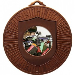 Bronze Rifle Shooting Medal 60mm