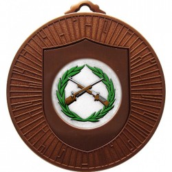 Bronze Small Bore Rifle Shooting Medal 60mm