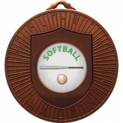 Bronze Softball Medal 60mm