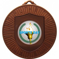 Bronze Sports Day Torch Medal 60mm